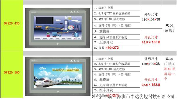 优控OP320-LV430触摸屏
