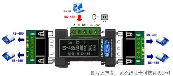 波仕 RS-485一变四地址扩展器