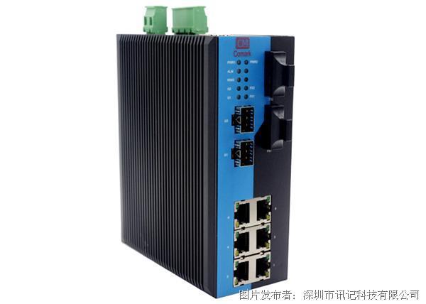 深圳讯记光电混合网管型冗余环网工业级交换机
