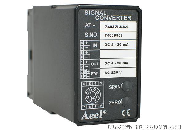 柏升 AT-740-IZI, VZV, IZV, VZI直流信号转换器