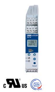 JUMO safetyM TB/TW-智能温度限值器/监视器-带LCD显示与导轨安装