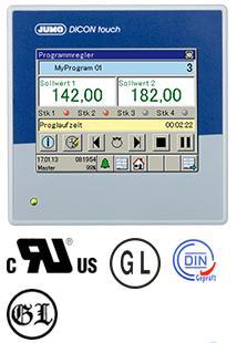 JUMO DICON touch 配有无纸记录功能和触屏的双通道过程和程序控制器
