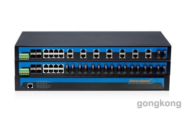 三旺 IES1028-4GS 24口百兆光4口千兆电机架式以太网交换机