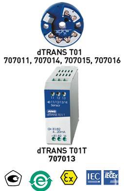 JUMO dTRANS T01可编程两线制温度变送器