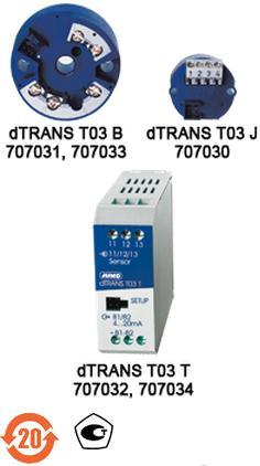 JUMO dTRANS T03-模拟两线制温度变送器