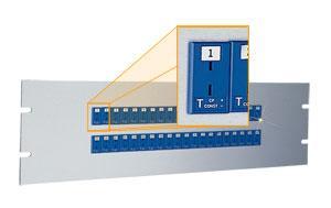 歐米茄19MJP 系列483 mm (19')插孔面板