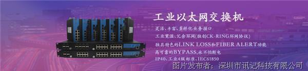 讯记CK3011系列千兆1光1电工业光纤收发器