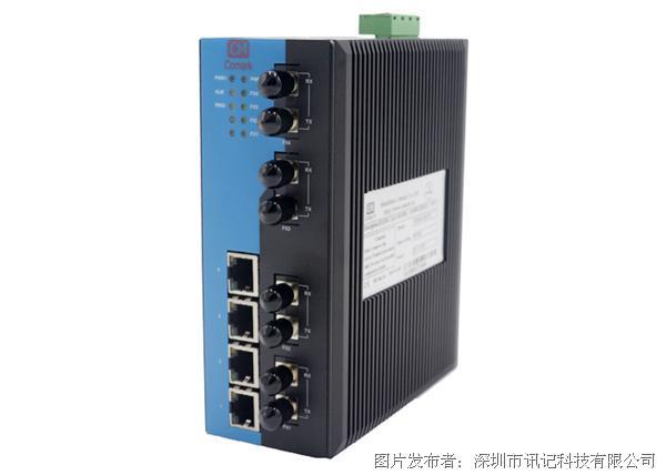 訊記8口網管型工業以太網交換機