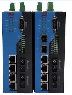 讯记10口串口网管型工业以太网交换机