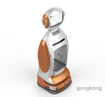 新松講解引領機器人