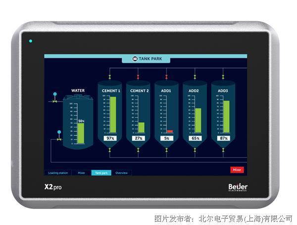 北尔电子 X2 pro 7人机界面