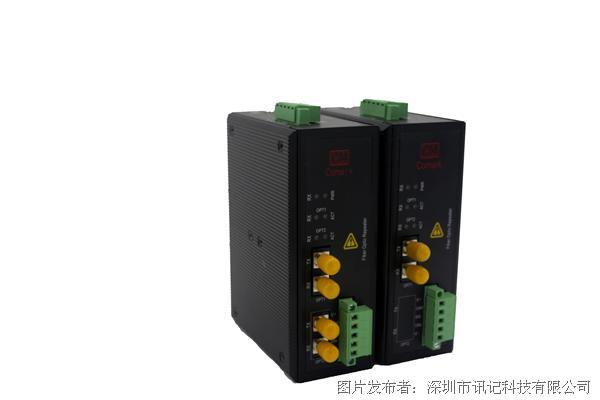 讯记can(canOpen,canbus,devicenet)总线转光纤中继器