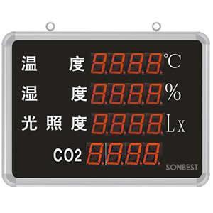 搜博SD8402B大屏温湿度光照度CO2显示仪