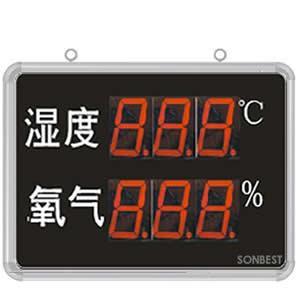 搜博SD8210B大屏LED显示湿度、O2显示仪