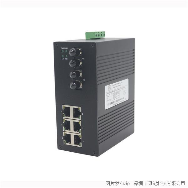 讯记CK1042 4电2光多性能工业以太网交换机