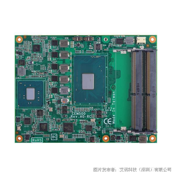 艾讯科技CEM500工业级COM Express Type 6模块