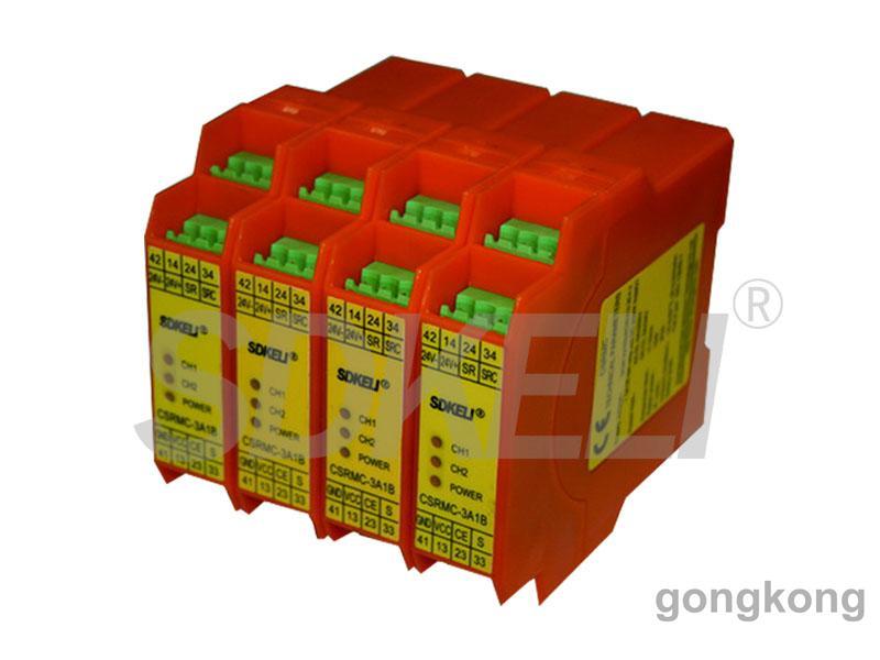 科力光电-安全继电器模块CSRMA(控制急停按钮和安全门开关)