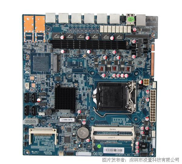 凌壹 Intel haswell LGA 1150 六電兩光網絡安全主板