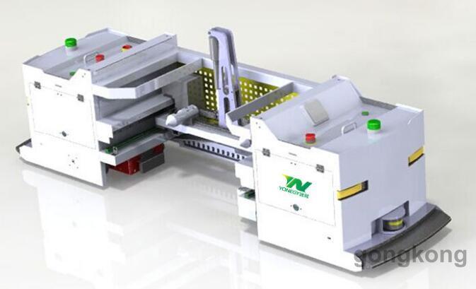 遠能側移子母式AGV