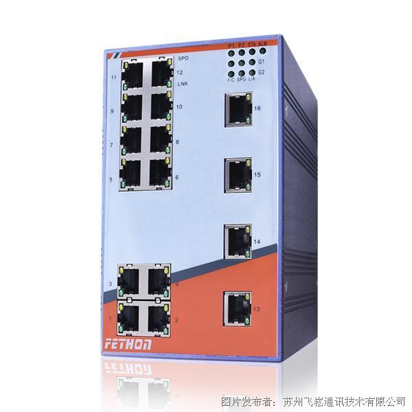 苏州飞崧ESD218M-2G千兆网管型工业以太网交换机