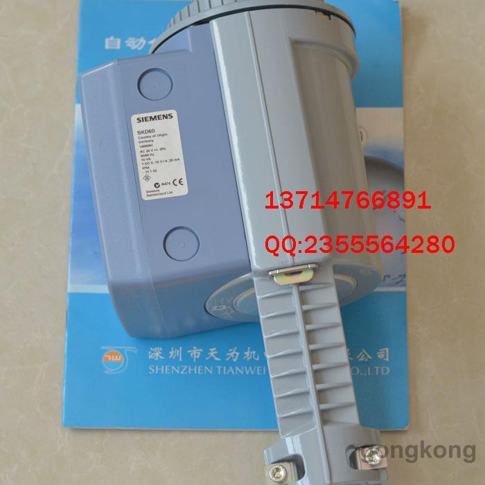 描述: 德国西门子SIEMENS电动液压执行器SKD60 SKD系列电动液压执行器 产品简介: 带有手动超越功能,自动复位到控制模式,通过末端的推力限制进行过载保护, 适用于行程为20mm的阀门。 技术参数 额定推力:1000 N 行程:20mm 环境温度:-15..50 介质温度:-25..150 安装位置:坚直到水平 工作电源:AC24V 控制信号:DC0.