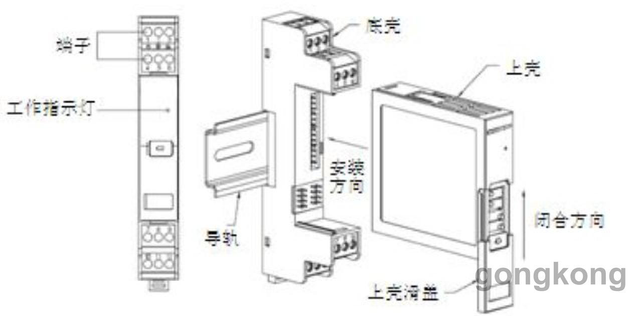 pt100热电阻/热电偶温度变送器