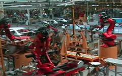 滑台机器人多种应用视频Chery现场