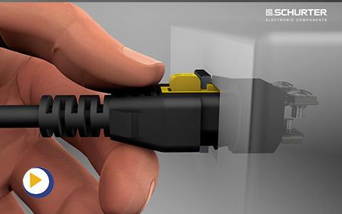 瑞士 SCHURTER V-Lock 电线固定解决方案