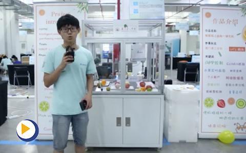 台达杯决赛作品-智能线上果蔬选购一体化机