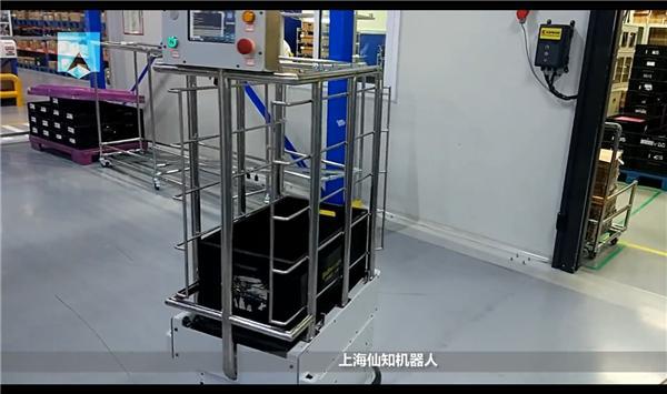 大陆电子试车-皮带式产线对接机器人-智能卸货