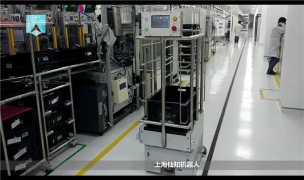 大陆电子试车-皮带式产线对接机器人-智能取货