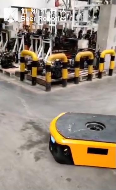 基于SRC的顶升机器人在汽车零部件加工车间应用视频