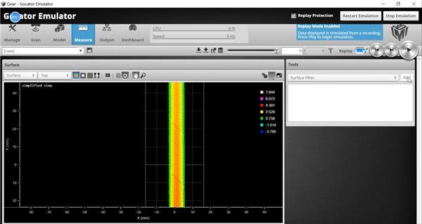 使用Gocator模拟器测量齿轮齿距