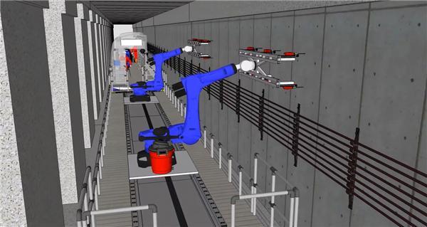 机器人搭载Gocator实现地铁列车控制系统安装的视觉引导
