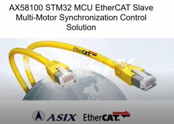 AX58100 STM32微控制器EtherCAT从站马达精准同步控制演示