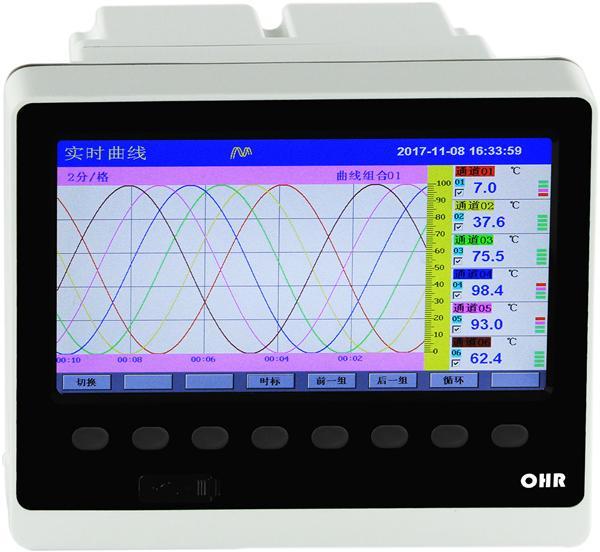 实用教程:虹润F800系列12路彩色无纸记录仪的热电阻接线方法演示