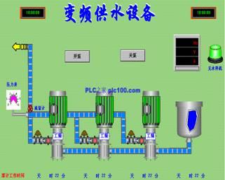 plc与变频器控制的自动恒压供水系统